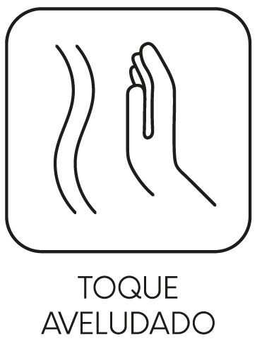 toque aveludado